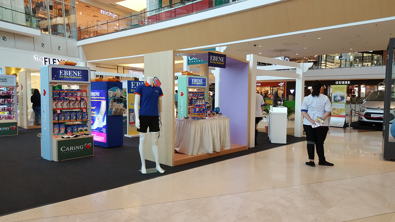 Ebene products at IOI City Mall concourse