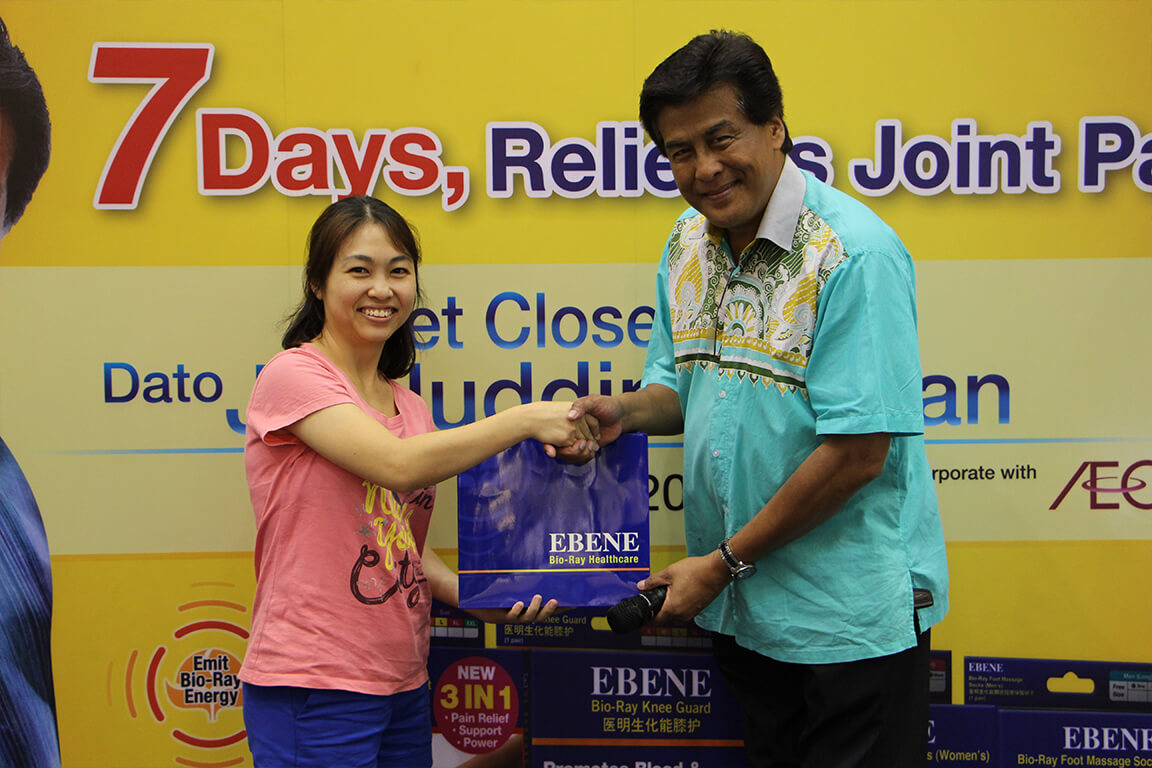 Ebene's Brand Ambassador Dato'Jalaluddin Hasan
